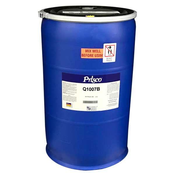 Drum of Q1007B High Gloss Aqueous Coating - Prisco